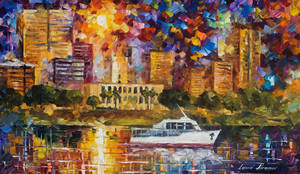 Asuncion Paraguay 2 by Leonid Afremov by Leonidafremov