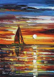 Sailing With The Sun by Leonid Afremov by Leonidafremov