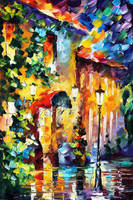 Living Town by Leonid Afremov by Leonidafremov