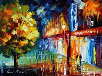Shining Drops by Leonid Afremov by Leonidafremov