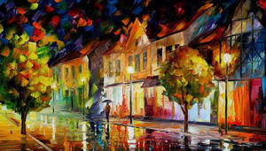 Alone In The City by Leonid Afremov by Leonidafremov