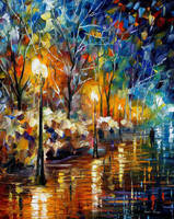 The Warm Light Of Winter by Leonid Afremov by Leonidafremov