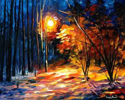 Shadows On Snow by Leonid Afremov by Leonidafremov