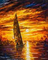 Fast Sail by Leonid Afremov by Leonidafremov