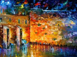 Wailing Wall by Leonid Afremov by Leonidafremov