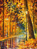 Lonely Bench 1 by Leonid Afremov by Leonidafremov