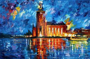 Lighthouse 2 by Leonid Afremov by Leonidafremov