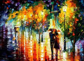 Two Couples by Leonid Afremov by Leonidafremov