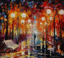 Misty Reflections by Leonid Afremov by Leonidafremov