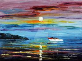 Caribbean Dream by Leonid Afremov by Leonidafremov
