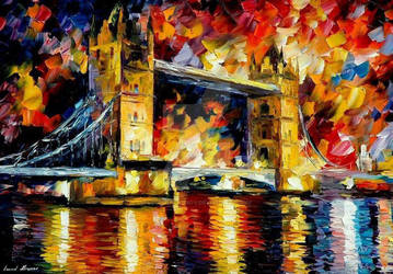 London Bridge by Leonid Afremov by Leonidafremov