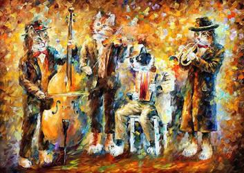 Musical Cats by Leonid Afremov by Leonidafremov