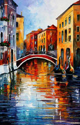 Canal in Venice by Leonid Afremov by Leonidafremov