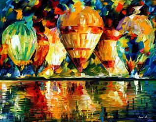Balloon Show by Leonid Afremov by Leonidafremov