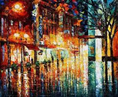 Night Life by Leonid Afremov by Leonidafremov
