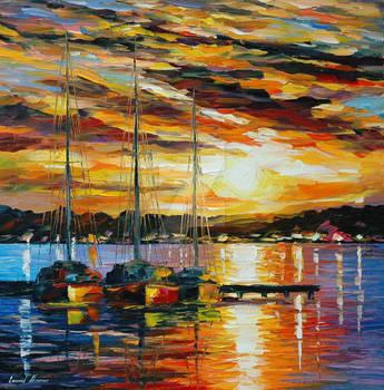 Southern Sunset by Leonid Afremov by Leonidafremov
