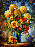 Flowers Of Happiness by Leonid Afremov by Leonidafremov