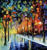 Winter Park by Leonid Afremov by Leonidafremov