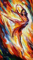 Passion And Fire by Leonid Afremov by Leonidafremov