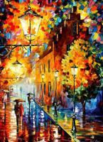 Lights In The Night by Leonid Afremov by Leonidafremov