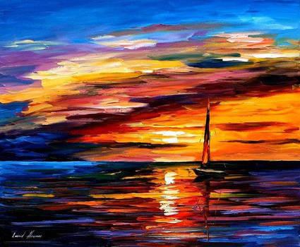 Quiet Sunset by Leonid Afremov by Leonidafremov