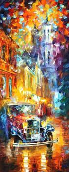 City Vibes 2 by Leonid Afremov by Leonidafremov