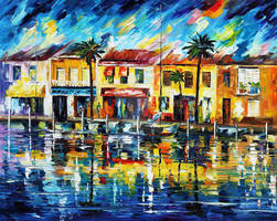 Tropical Night by Leonid Afremov by Leonidafremov
