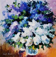 Lovely Lilacs by Leonid Afremov by Leonidafremov