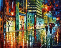 Night Jerusalem by Leonid Afremov by Leonidafremov