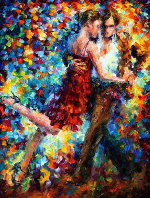 Emotional Tango by Leonid Afremov by Leonidafremov