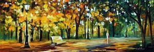 In The Old Park by Leonid Afremov by Leonidafremov