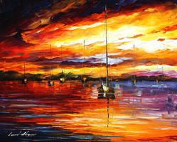 Sea Of Passion by Leonid Afremov by Leonidafremov