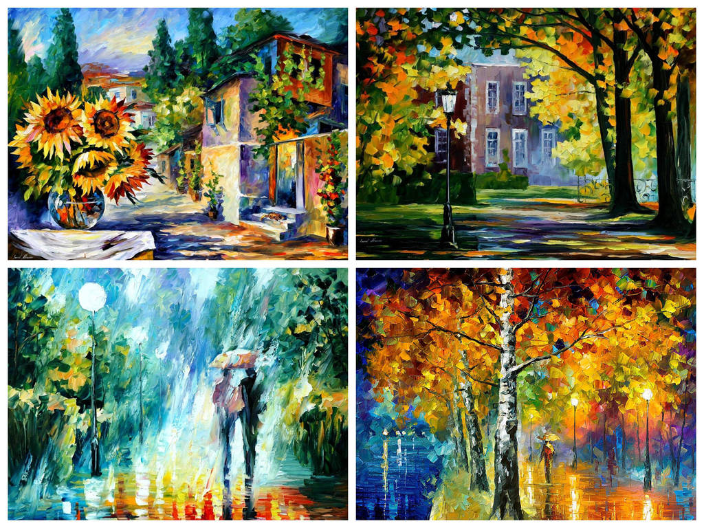 Set Of 4 My Most Favorite Summer Giclees by Leonidafremov