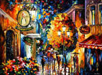 Cafe In The Old City by Leonid Afremov by Leonidafremov