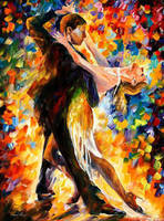 Midnight Tango by Leonid Afremov by Leonidafremov