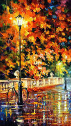 Lonely Bicycle by Leonid Afremov by Leonidafremov