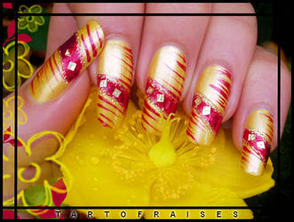 summer nail-art by Tartofraises