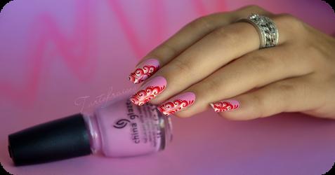 candy one stroke nail art by Tartofraises