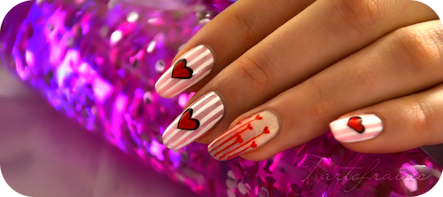 Valentine manicure by Tartofraises