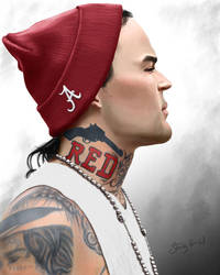 Yelawolf Digital Painting by slizzie