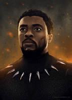 Black Panther - Chadwick Boseman Fan Art by slizzie