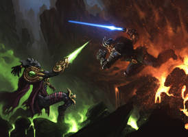 Heroes of the Storm: Duel of the fates by lordFelwynn