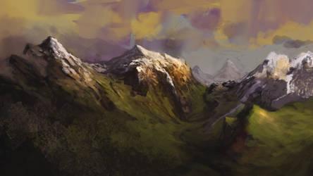 Mountains by lordFelwynn