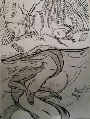 Deep in Swamps by darkdragonfiend