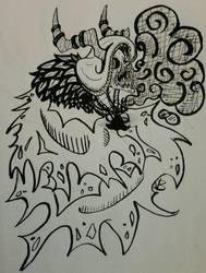 Inked Lich by darkdragonfiend