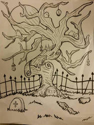 Cemetery by darkdragonfiend