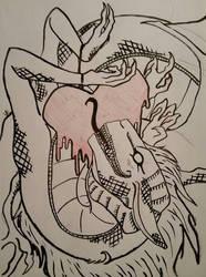 Bleeding Heart by darkdragonfiend
