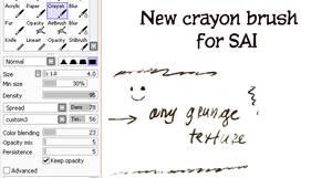 New crayon brush for SAI by clotus