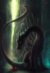 Wingless Dragon by ThornSpine