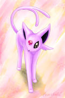 Espeon by Eeveetachi